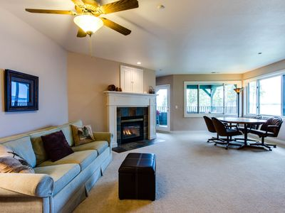 Photo for Beautiful lakefront home w/ a shared indoor pool, a marina & more!