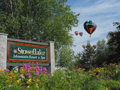 Photo for 3BR Townhouse at Breathtaking Stoweflake Resort