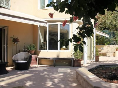 Photo for 3 bedroom apartment with large sunny garden - Villefranche s / mer - Free wifi