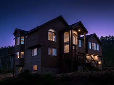 Photo for Brand New 7 Bedroom Estate, Sleeps 18, Mountain Views, National Forrest, Hot Tub