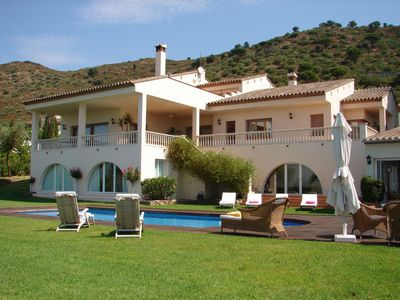 Photo for 8 bedroom Villa, sleeps 14 with Pool, Air Con and Walk to Shops