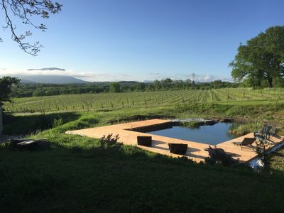 Photo for Old stone house, breathtaking view, in the center of 12 hectares, swimming pool, jacuzzi