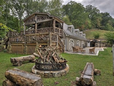 Photo for North Carolina Mountains Paradise/Hot Tub/Fireplace/Fire Pit