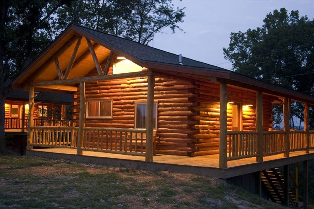 private pin beaver with view cabin lake deck fabulous cabins on rentals rental acres