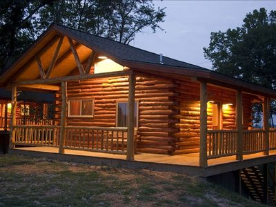 Photo for Beautiful Log Cabin with Views of Beaver Lake - 2 Levels