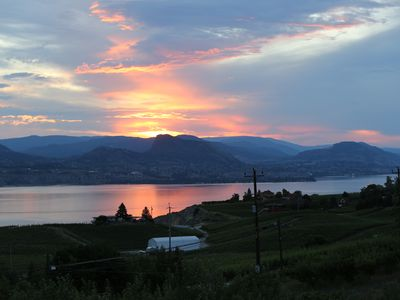 Photo for Cycling friendly suite near KVR & wineries with stunning lake views!