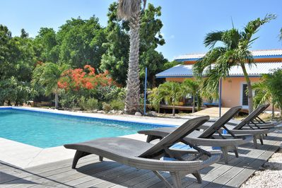 Nice apartments in the middle of a tropical garden with swimming pool - Soto