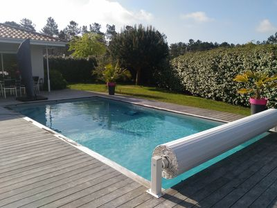 Photo for Contemporary house of 140 m² - 4 bedrooms - Heated pool 28 °