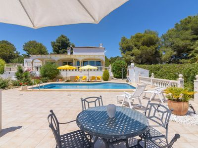 Photo for Stunning private villa for 6 guests with A/C, WIFI, private pool, TV, pets allowed and parking