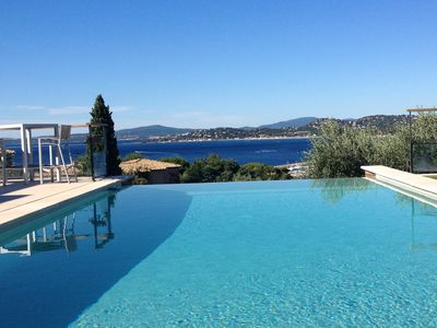Photo for Contemporary villa with views of the Gulf of Saint Tropez beaches 300 mdes