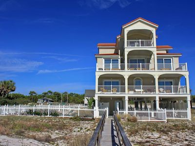 "Photo for Ready To Rent Now! On the Beach! Private Pool, Pets Welcome, Elevator, Fireplace, Free Beach Gear, 6BR/6.5BA ""Siren's Song"""