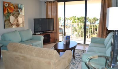 Photo for C202 Dunes of Panama Vacation Rental Get that Spectacular views of the pool and the sunset from your balcony!