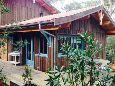 Photo for Cap Ferret, charm of a wooden cabin and comfort of a recent realization.