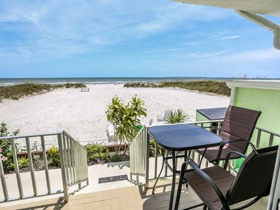 Photo for Welcome to Kona Beach Club #101, the perfect beachfront vacation address in paradise! Located in the quieter North end of Estero Island, this 1 bedroom, 1 bath first floor gulf-front condo.