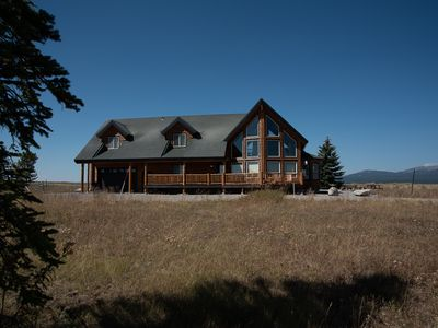 Photo for Hangin' Bear: Captivating Log Cabin on Reservoir, Scenic Vistas, Near YNP