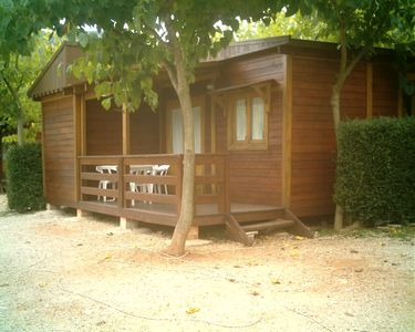 Photo for Cabins and wooden bungalows La Falaguera for 4 people