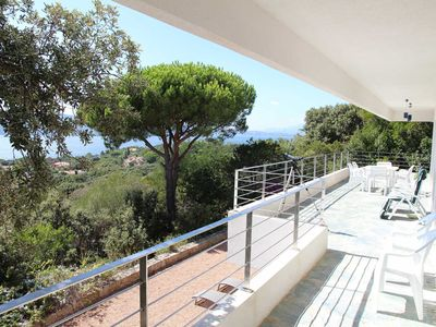 Photo for Villa 4 bedrooms, sea views, close to beach in the area of ​​Cala Rossa