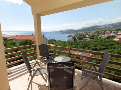 Photo for Two bedroom apartment with terrace and sea view Klenovica, Novi Vinodolski (A-5504-a)