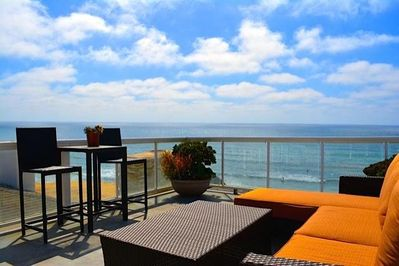 Stunning view of the famous Tourmaline surf break from your private deck.