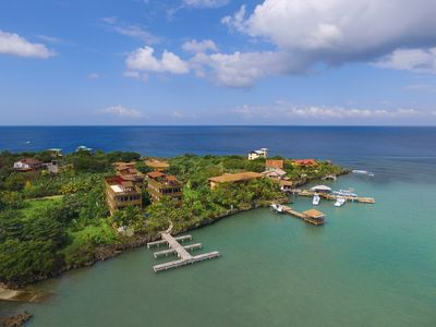 Photo for West End, Roatan, Mangrove Dock 3 BD 3 Bath Penthouse with Rooftop Deck