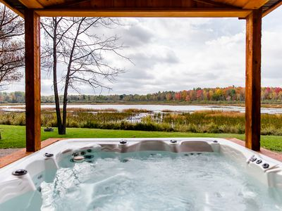 Photo for Luxury Lake Cottage at Meemo's Farm