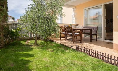 Photo for Spacious apartment with the garden, near the sandy beach