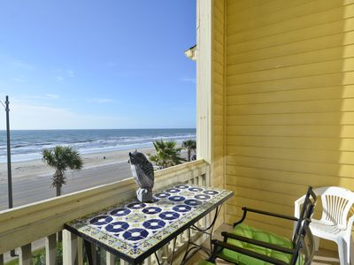 Photo for Gorgeous full gulf view from this third floor condominium unobstructed views of the Gulf!  One of the best views of Babe's Beach, patio for relaxation