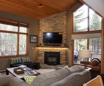 Cozy living room with amazing views of the outdoors