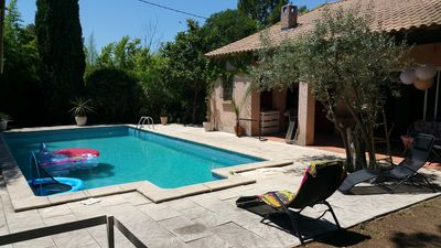 Photo for Provencal and family house with large swimming pool 15 min montpellier 25min Sea