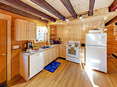 Kitchen - Whip up home-cooked meals in the well-equipped kitchen.