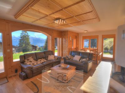 Photo for Beautiful chalet 2 floors with : Ground floor : Entrace corridor, 1 toilet. Living room with a sofab