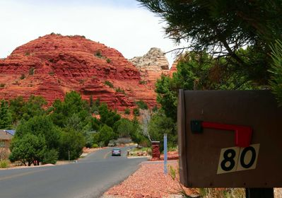 You have arrived! See how close we are to the Red Rocks. Here, Sugarloaf.