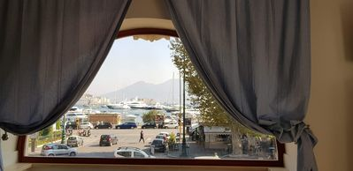 Photo for Napoli Mon Amour SUITE delicious, panoramic view of the gulf and Vesuvius