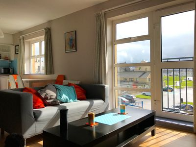 Photo for BRIGHT COSY APARTMENT -  WITH SEA AND SURF VIEWS - RIGHT IN THE CENTRE OF TOWN.