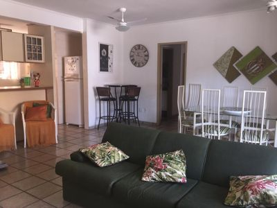 Photo for COMFORTABLE AND CONVENIENT APARTMENT WITH LARGE BALCONY ON THE BEACH OF THE ENSEADA