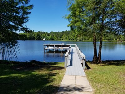 Photo for Lake front paradise! Water front dock great for fishing & swimming! Amazing View