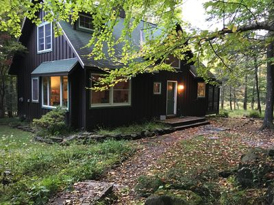The cabin in early fall.