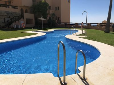 Photo for Large luxury apartment, huge terrace, direct access to gardens & pool, sea view