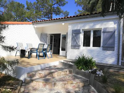 Photo for Quiet house 3 bedrooms, 6 people, 400 m from the beach, the Grière, 3 stars
