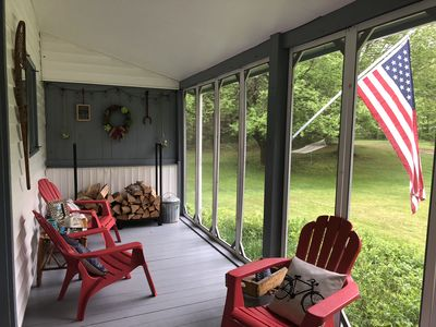 In the summer, enjoy the weather without the bugs in our screened in porch.