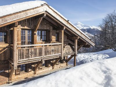 Photo for A 4-bedroom authentic mountain chalet with a modern interior, luxury 5*, for 10 persons. Ideally loc