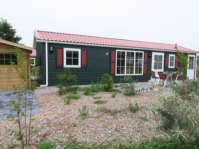 Photo for Cosy chalet suitable for disabled people, located in a large park on Texel.