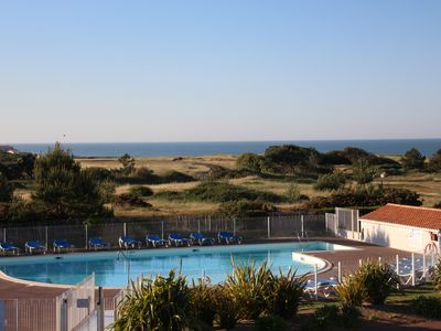 Photo for T2 with beautiful sea view, pool, quiet in gated luxury residence
