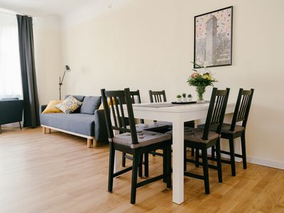 Light and spacious 3-bedroom apartment with calm and relaxing interior design.