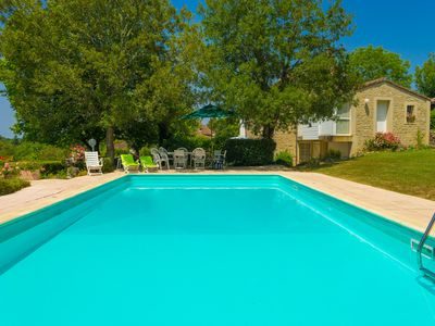 Photo for CHARMING HOUSE, LARGE HEATED SWIMMING POOL, SUPERB VIEW AND LARGE FIELD