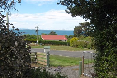 Entrance to property showing reserve entrance to bush walk to beach opposite