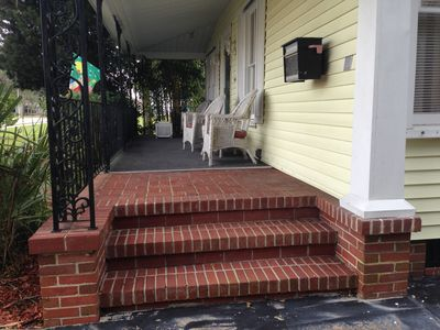 front porch great for morning coffee or afternoon cocktail