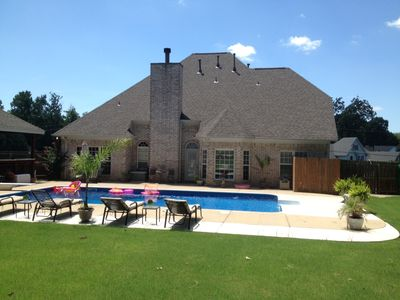 Photo for Private 5BR Luxury Poolhouse Retreat near Beale, Graceland and Tunica Casinos