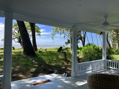 front deck opening straight onto Four Mile Beach