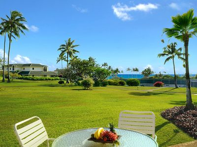 Photo for Kahala Poipu Kai 312, 2/2 with A/C in living area steps from Poipu Beach